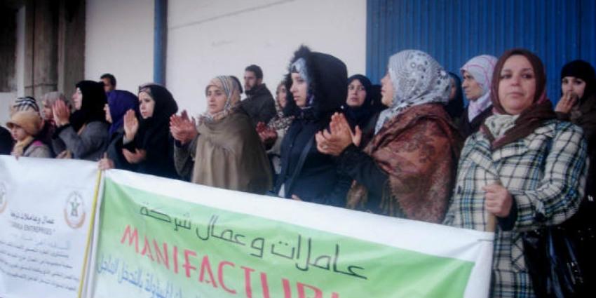 Tanger Port : occupation du port de Tanger par les ouvrières