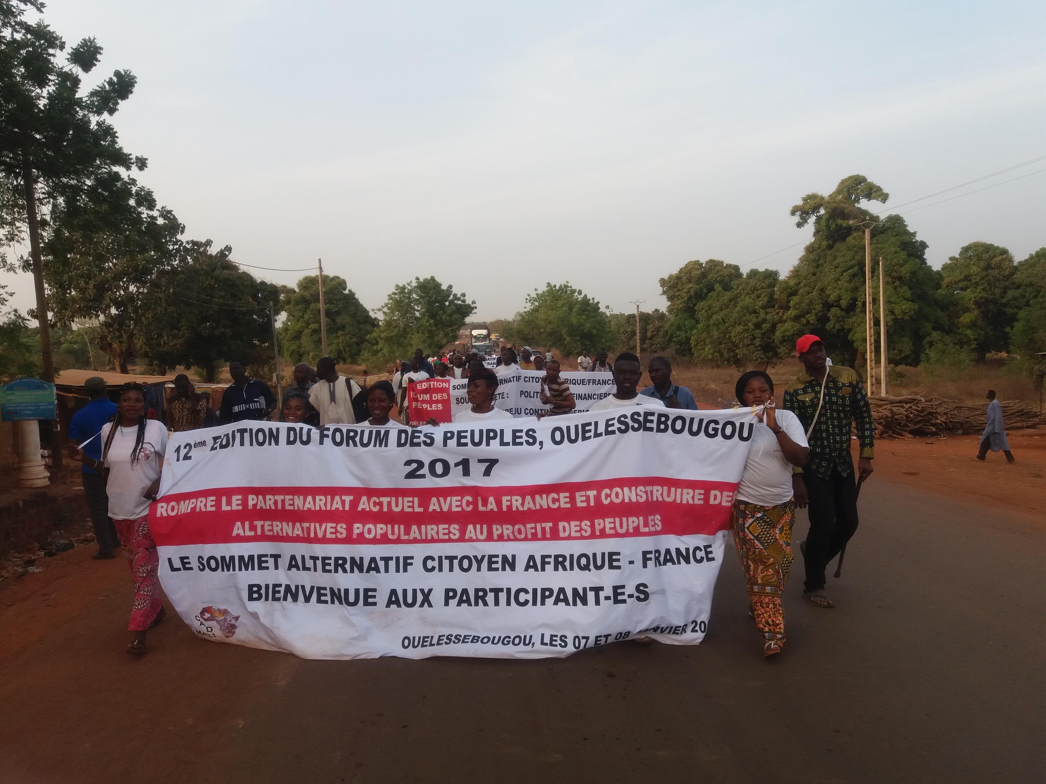 Déclaration des Mouvements Sociaux à la 12èmeEdition du Forum des Peuples du Mali, Sommet Alternatif Citoyen au 27ème Sommet Afrique-France.