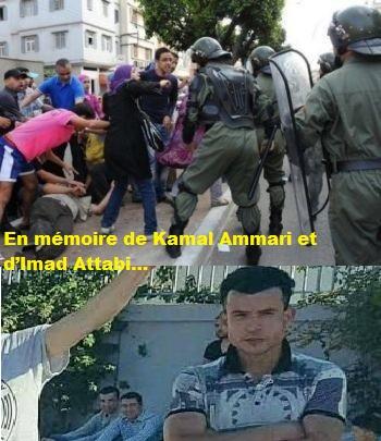 En mémoire de Kamal Ammari et d'Imad Attabi…