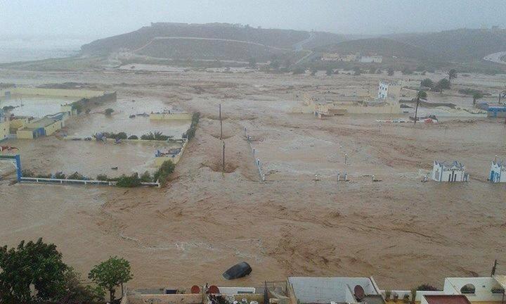 صورة فيضانات سيدي إفني  خسائر الكادحين أرباح للرأسماليين
