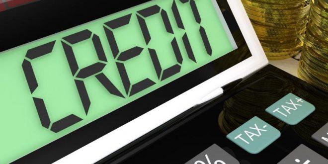 credit-calculator-shows-financing-borrowing-or-loan
