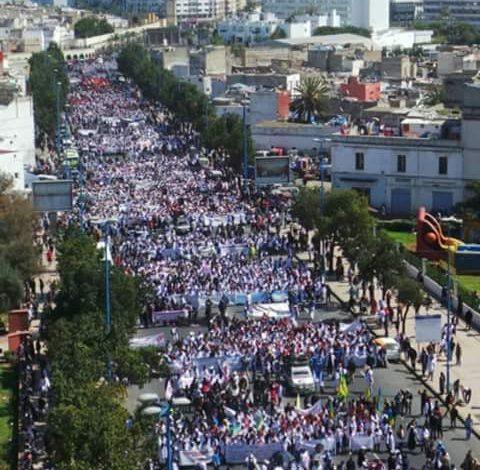 صورة الأساتذة المتدربون… مسيرة تفتح باب الانتصار