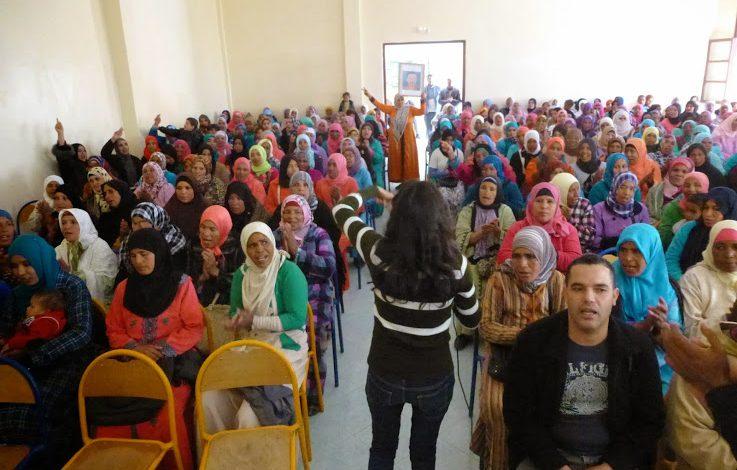 صورة فيديو : أطاك المغرب تخلد اليوم العالمي للنساء إلى جانب نساء سكورة بورزازات