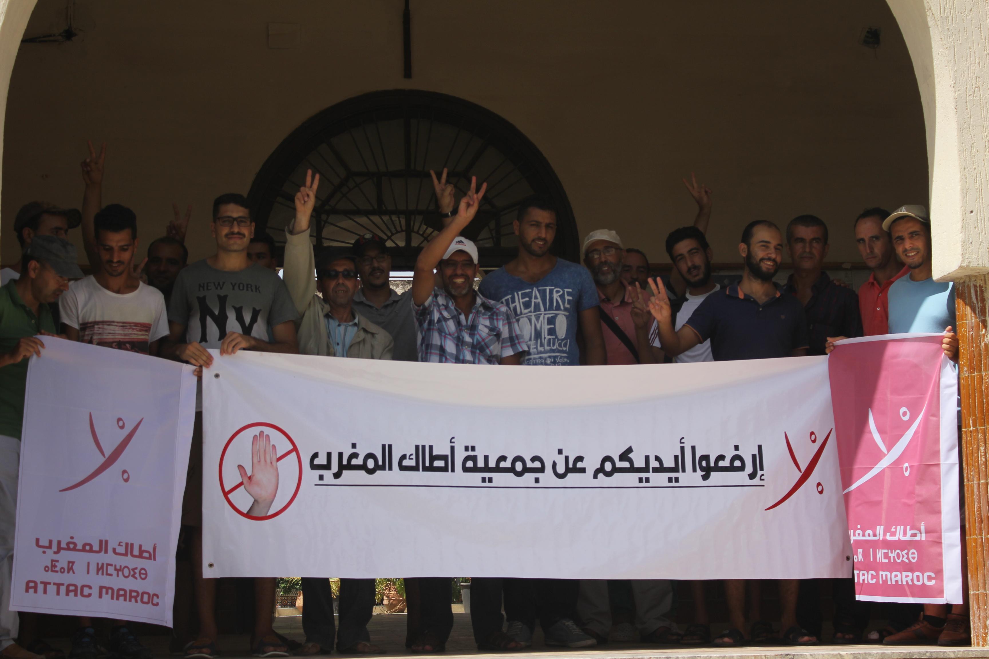 Attac Maroc section Ksar El Kebir condamne fermement le comportement des autorités de la ville concernant le renouvellement du récépissé légal