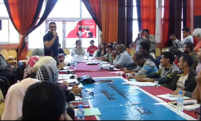 صورة إعلان آسفي الصادر عن الندوة الدولية حول التغيرات المناخية التي نظمتها اطاك المغرب