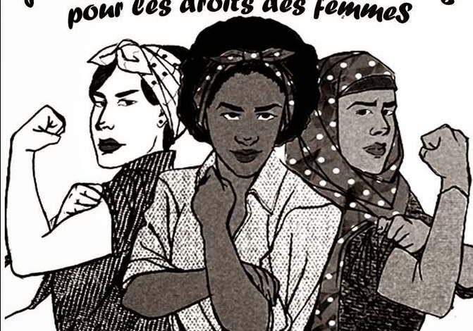 صورة أرضية الإضراب العالمي للمرأة في الولايات المتحدة الأمريكية بمناسبة 8 مارس