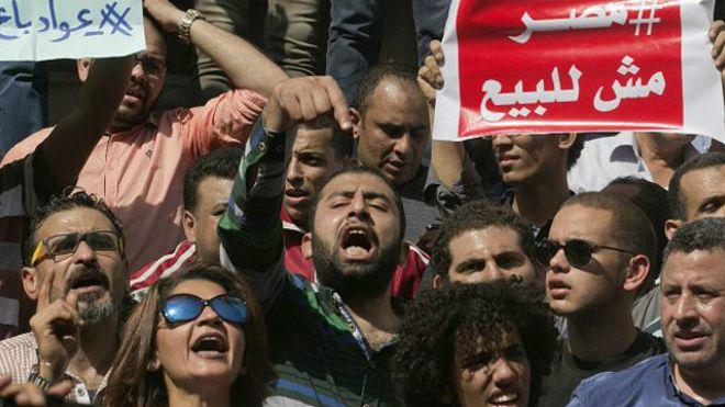 صورة بيان تضامني مشترك: نطالب بإطلاق جميع المعتقلين المناهضين لاتفاقية جزيرتي تيران وصنافير في مصر