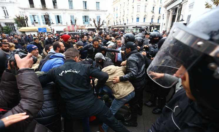 صورة تونس: هبة اجتماعية من أجل اسقاط قانون المالية لسنة 2018