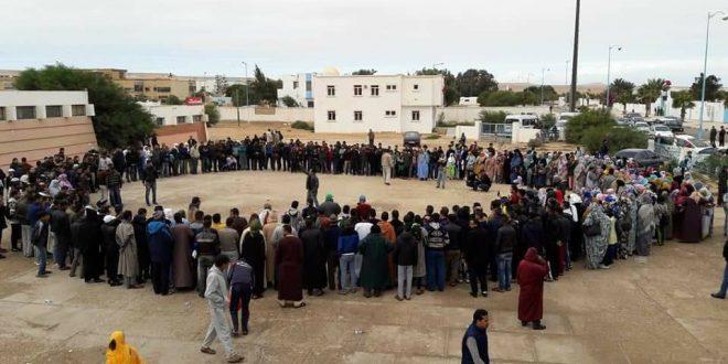تقرير عن احتجاجات سكان طانطان على الوضع الصحي بالإقليم.